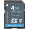 Promaster-4GB Performance SDHC #5919-Memory cards, tape and discs