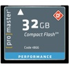 Promaster-32GB Performance Compact Flash #1866-Memory cards, tape and discs