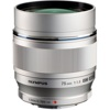 Olympus-M. Zuiko Digital ED 75mm f1.8 Lens - Silver-Lenses - SLR & Compact System