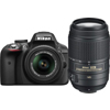 Nikon-D3300 DSLR with AF-S DX NIKKOR 18-55mm VR II and AF-S DX NIKKOR 55-300mm VR Lenses-Digital Cameras