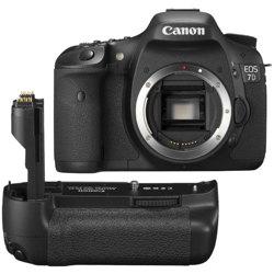 Canon-EOS 7D Digital SLR Camera (Body + BG-E7 Battery Grip)-Digital Cameras