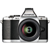 Olympus-E-M5 OM-D System Camera with M.Zuiko Digital ED 12-50mm EZ Lens - Silver-Digital Cameras