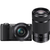 Sony-A5000 Interchangeable Lens Camera with 16-50mm PZ OSS and 55-210mm f/4.5-6.3 Lenses-Digital Cameras
