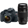 Canon-EOS Digital Rebel T5 with EF-S 18-55mm f/3.5-5.6 IS II and 75-300mm f/4-5.6 III Lenses - Black-Digital Cameras
