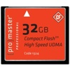PROMASTER®-32GB Professional Compact Flash 1000x #1324-Memory cards, tape and discs