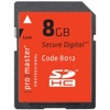 Promaster-8GB Professional SDHC 600x #8012-Memory cards, tape and discs