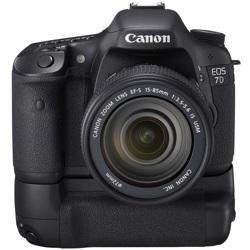 Canon-EOS 7D Digital SLR Camera with 15-85mm IS USM Lens and BG-E7 Battery Grip-Digital Cameras