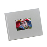 8.5 x 11 (HP) Graphite Satin Photo Book with Window