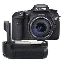 Canon-EOS 7D Digital SLR Camera with 18-135mm IS Lens and BG-E7 Battery Grip-Digital Cameras