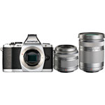 E-M5 OM-D System Camera with M.Zuiko Digital 14-42mm and 40-150mm ED Lens - Silver