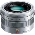 DMC-GM1 LUMIX Digital Single Lens Mirrorless Camera with Leica DG Summilux 15mm Lens - Silver