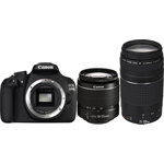 EOS 1200D Digital SLR Camera with EF-S 18-55mm III and EF 75-300mm III Lenses - Black