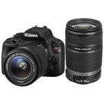 EOS 100D DSLR Camera with EF-S 18-55mm IS STM and EF-S 55-250mm IS II Lenses - Black