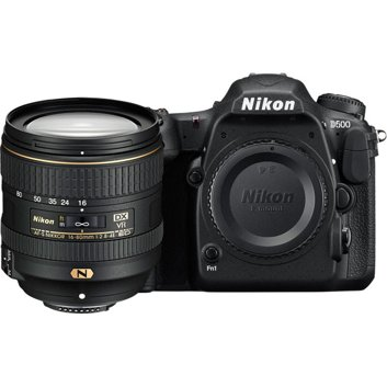 Nikon D500 DSLR Camera with AF-S DX Nikkor 16-80mm VR Lens - Black