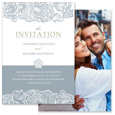 classy 2 sided invitation gift specifications
