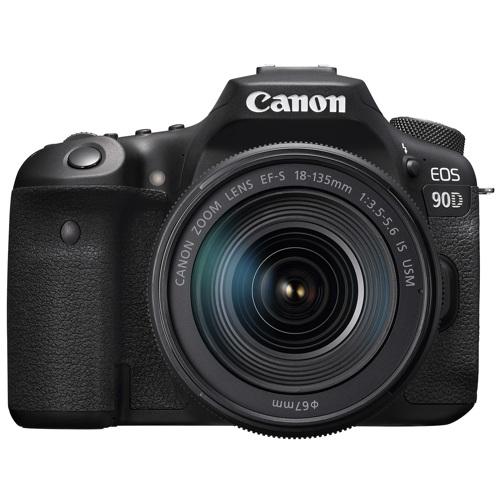 Canon-EOS 90D Digital SLR Camera with EF-S 18-135mm IS USM Lens - Black-Digital Cameras