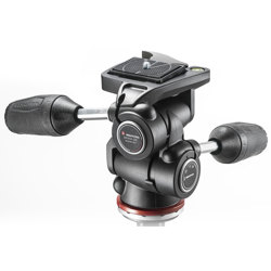 Manfrotto-MH804-3W 3 Way Head with RC2 in Adaptor with Retractable Levers-Tripod Heads