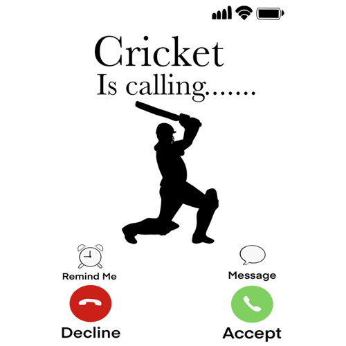 "Cricket Is Calling"" - White Mug - Add your own text"