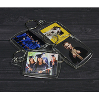 Double Sided Clear Keyring