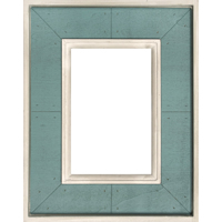 4x6 Vertical Turquoise Wood Frame