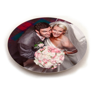 11 inch ChromaLuxe circular aluminium print High Gloss Finish