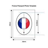 France Passport Photo Templates