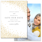 Confetti - 2 Sided Save the Date 5x7