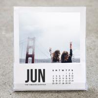 White Border Desktop Calendar 2017