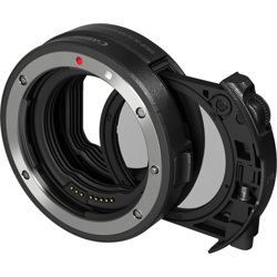 Canon-Drop-in Filter Mount Adapter EF-EOS R with Drop-in Circular Polarizing Filter-Lens Converters & Adapters
