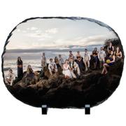 10x14 Oval Slate Print