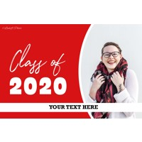 Large Graduation Banners - Red