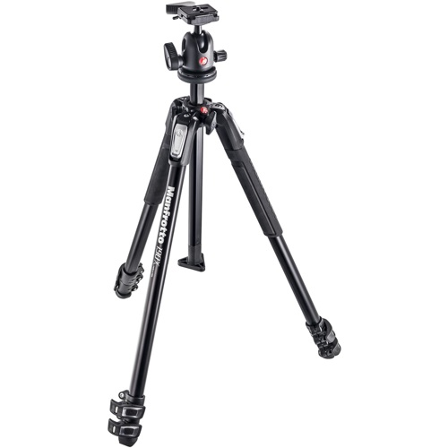Manfrotto-190X Kit - Aluminum 3 Section Tripod with 496RC2 Ball Head #MK190X3-BH-Tripods & Monopods