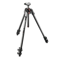 Manfrotto-190 Carbon Fiber 3-section tripod, with horizontal column #MT190CXPRO3-Tripods & Monopods