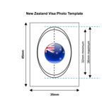 New Zealand Visa Photo Template