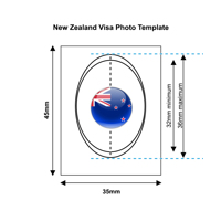 New Zealand Visa Photo Template