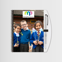"""Notebook & Pen 6""""x4"""" with Photo & Logo"""