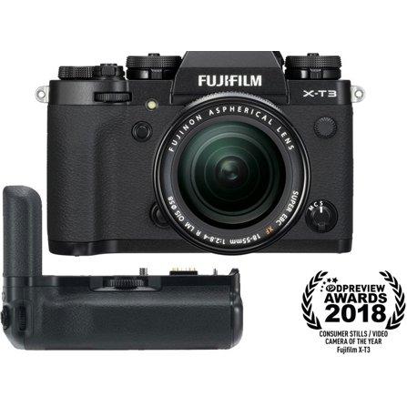 Fujifilm X-T3 Mirrorless Digital Camera with XF 18-55mm F2 8-4 R LM OIS  Lens and VG-XT3 Vertical Grip