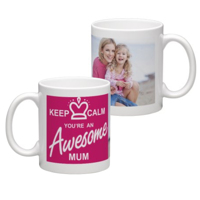 White Coffee Mug 11oz (wrap) Mom - B