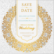Luxury - 1 Sided Save the Date  6x6