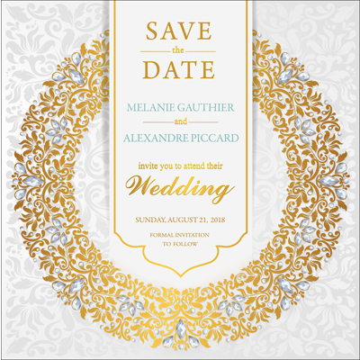 Luxury - 1 Sided Save the Date