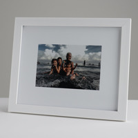 250x200mm Print in 20mm White Frame with a 150x100mm image (50mm white space on all sides)