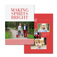 Mini Red Stripes: 10pk Holiday Card