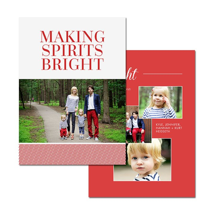 5x7 2 Sided Card With Graphics, Images And Text On Both Sides.
