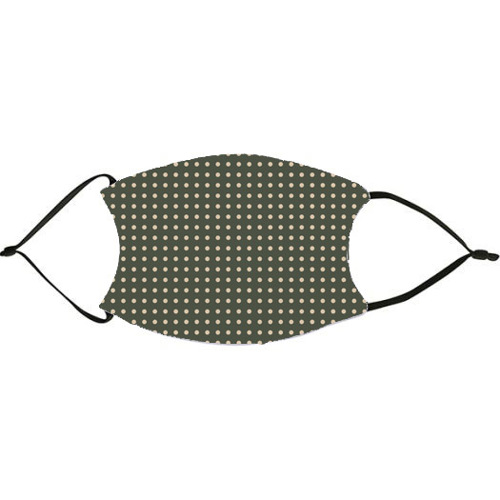 Christmas Green and Kraft Dots Face Mask