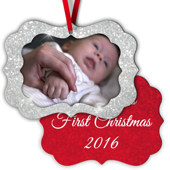 Scalloped Metal Ornament - 2S B