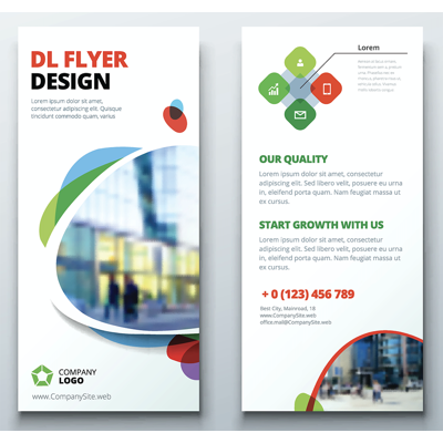 DL Flyer (double-Sided) 99x210mm with 3mm bleed (105x216mm)