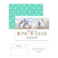 Happiest Holidays<br>5x7 Double Sided<br>Envelope