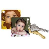 Porte-clés carré (2 Faces) 2 Images différent