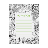 Market List 6x8 Notepad