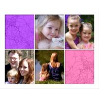 Collage horizontal avec 5 photos verticales de formats identiques - 16 x 20